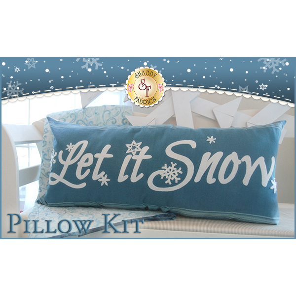 Let It Snow Pillow Kit Blue - INCLUDES WOOL!