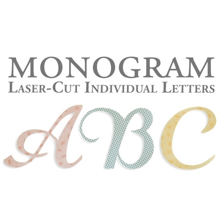 Laser-Cut Individual Monogram Letters - 4 Sizes Available