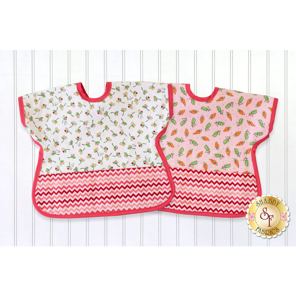 Ultimate Toddler Bib Kit - Lil Sprout Flannel - Pink - Video Project