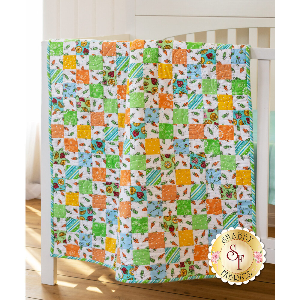 Crib Quilt Kit - Lil Sprout Blue Designed by Shabby Fabrics