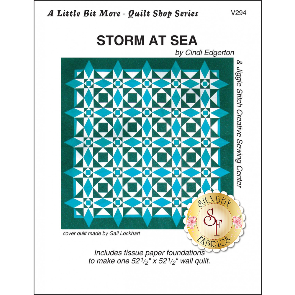 The front of A Little Bit More - Storm at Sea Pattern showing the finished quilt