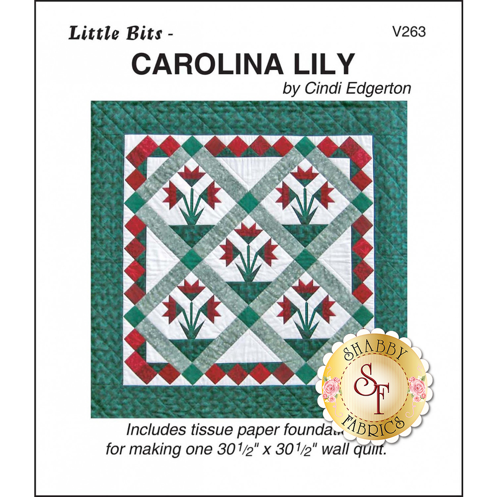 The front of Little Bits - Carolina Lily Pattern showing the finished quilt