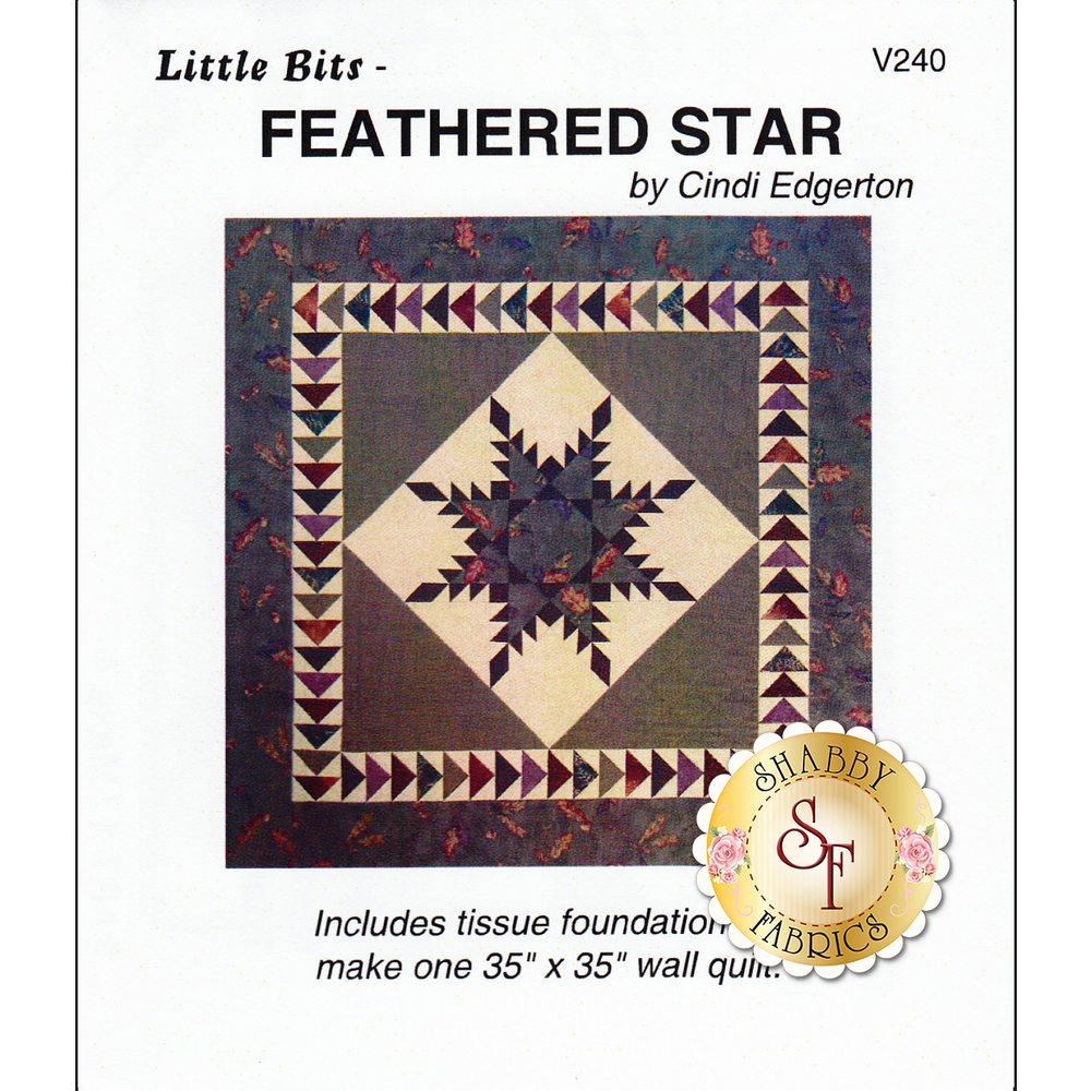 The front of Little Bits - Feathered Star Pattern showing the finished quilt
