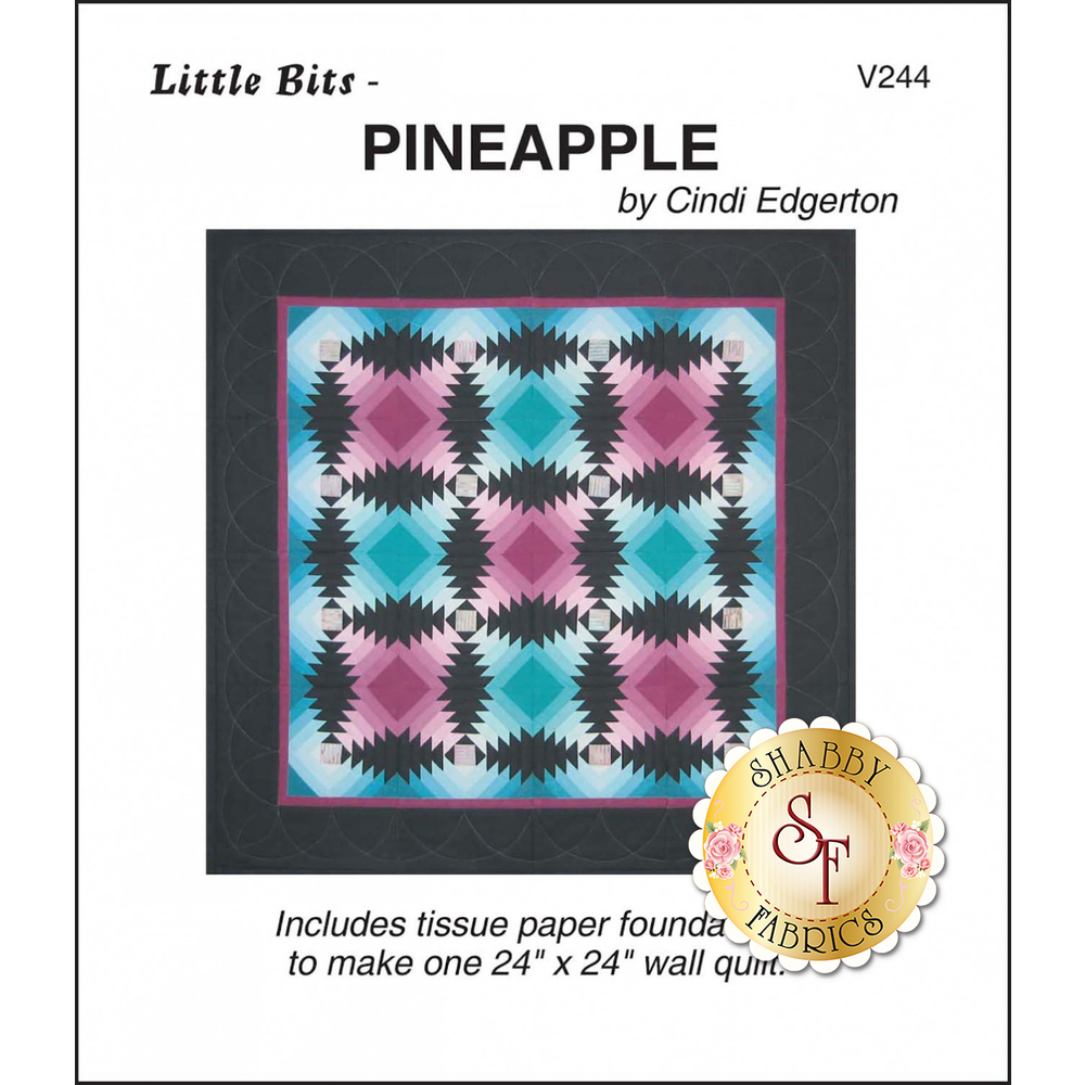 The front of Little Bits - Pineapple Pattern showing the finished quilt