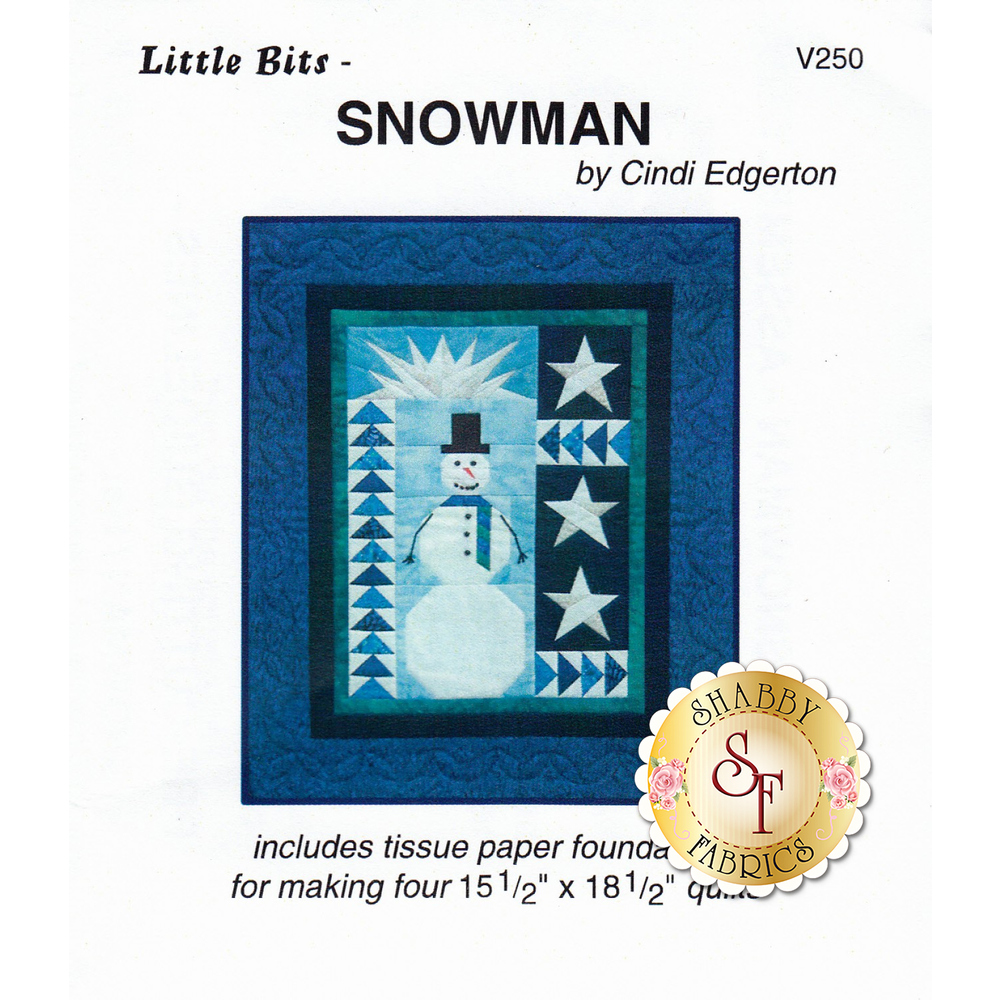 The front of Little Bits - Snowman Pattern showing the finished quilt