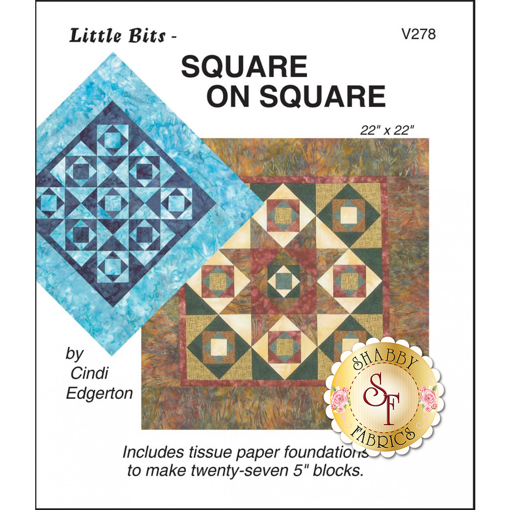 The front of Little Bits - Square on Square Pattern showing the finished quilt