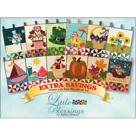 Full set of 12 Little Blessings monthly themed patterns.