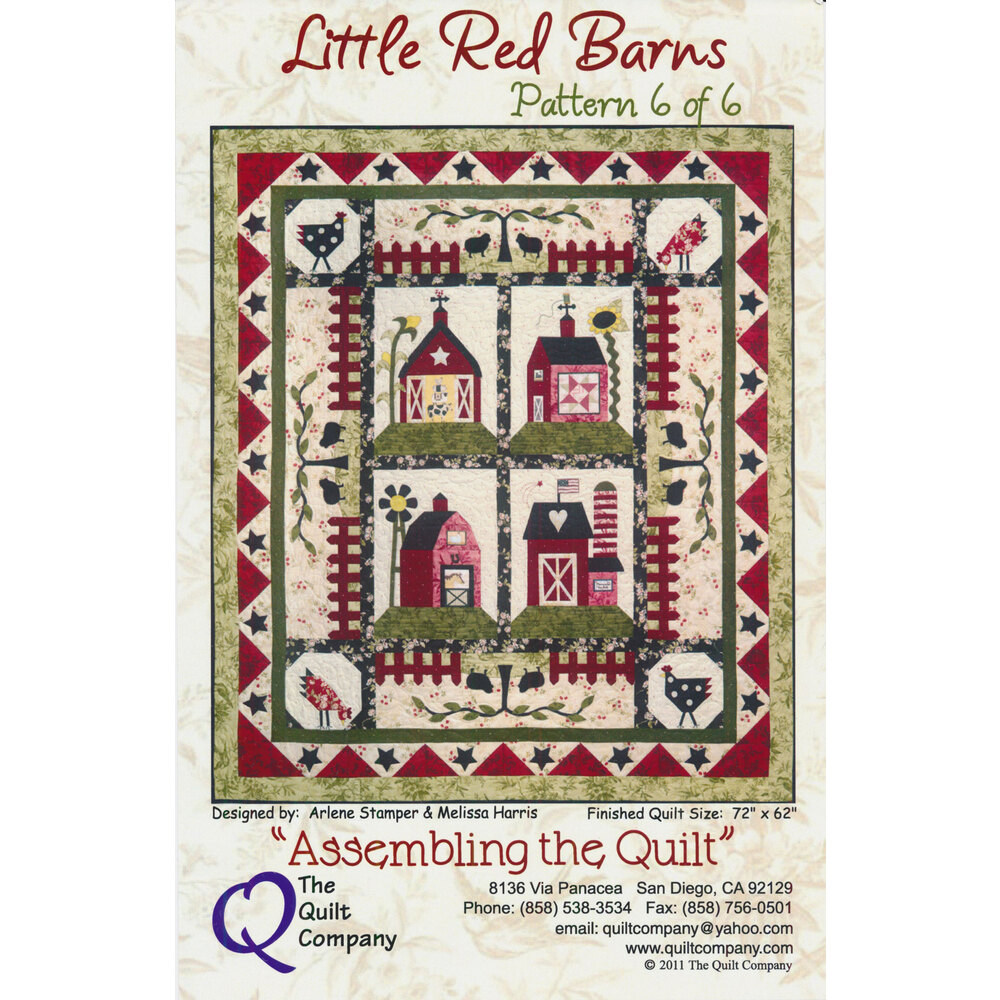Little Red Barns Pattern Complete Set - Patterns 1 - 6 + Accessory Packet