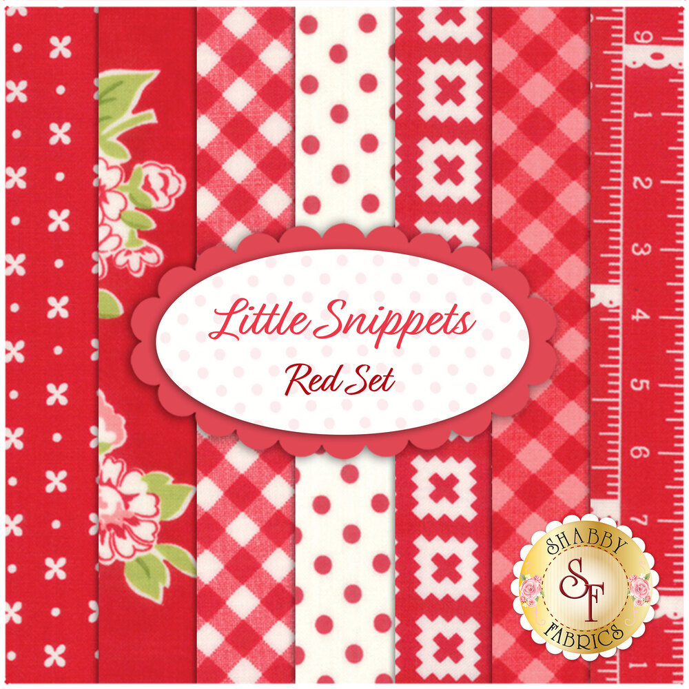 Little Snippets  7 FQ Set - Red Set by Bonnie & Camille for Moda Fabrics
