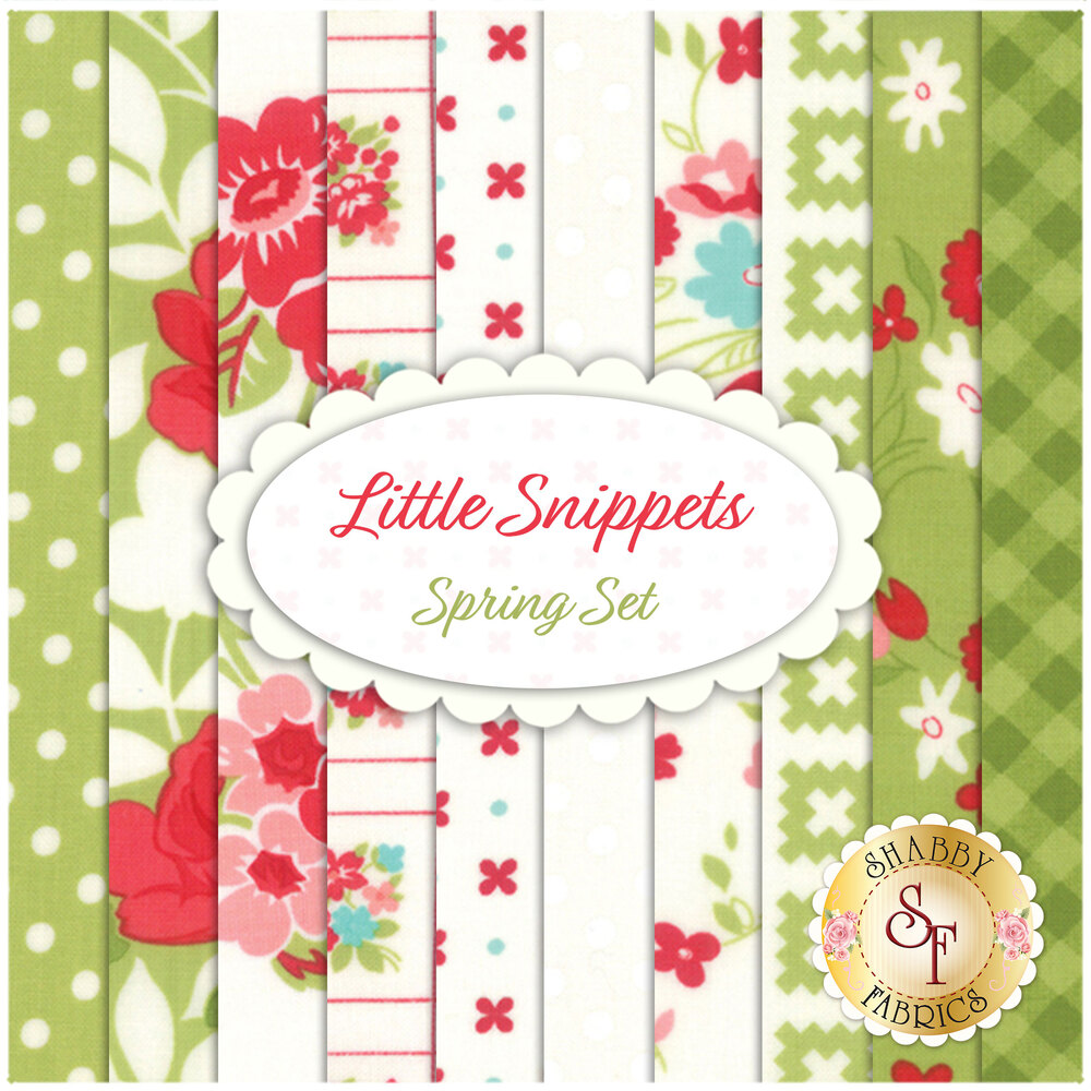 Little Snippets  10 FQ Set - Spring Set by Bonnie & Camille for Moda Fabrics