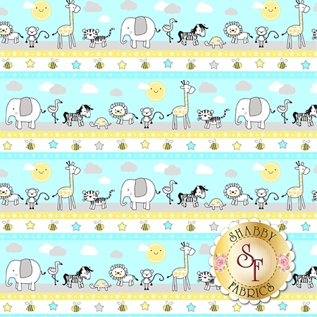 Little Sunshine 70438-751 Repeating Stripe Multi by Wilmington Prints