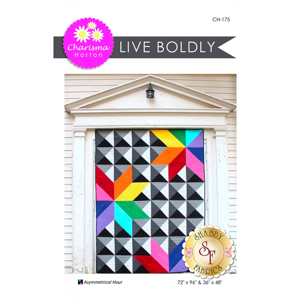Front of the Live Boldly pattern by Charisma Horton | Shabby Fabrics