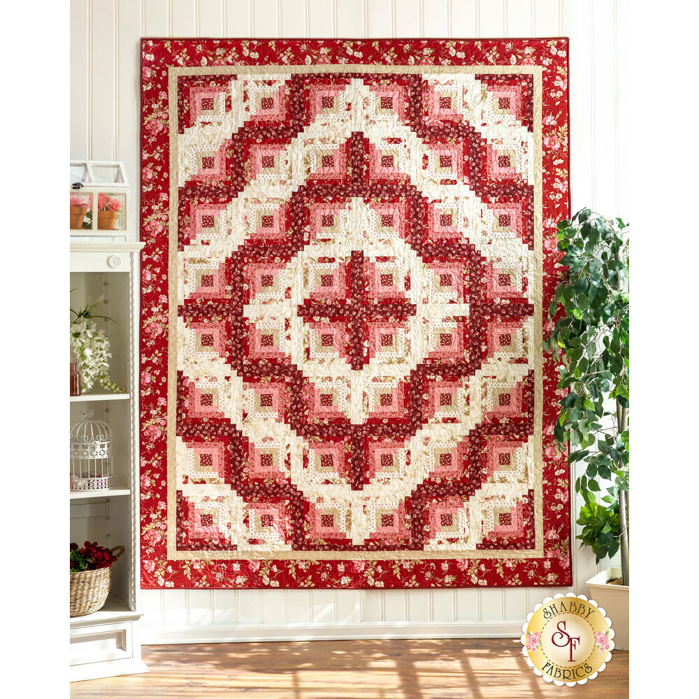 Log Cabin Twin Size Quilt Kit - Sweet 16