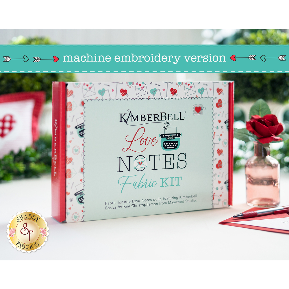 The beautiful Love Notes Mystery Quilt Collector's Box | Shabby Fabrics