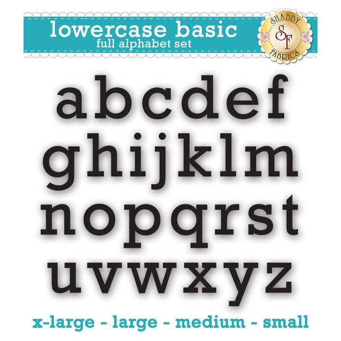 Laser-Cut Lowercase Basic Full Alphabet Set - Style 3 - 4 Sizes Available!