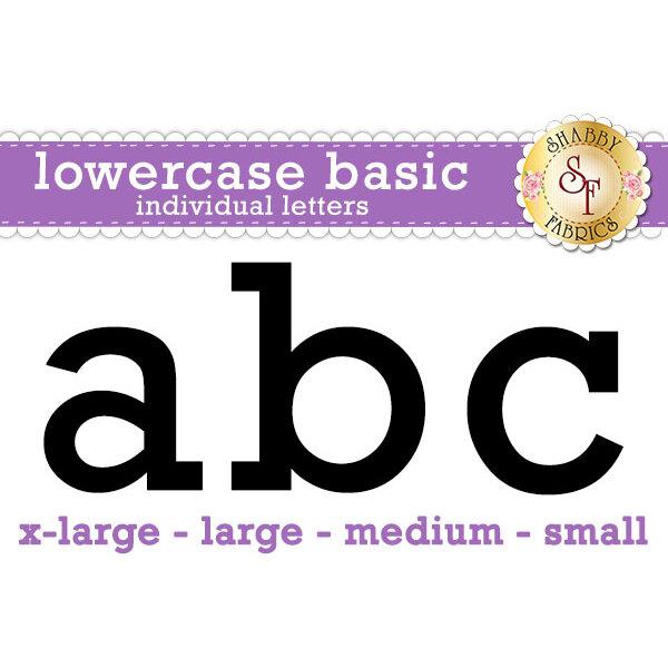 Laser-Cut Lowercase Basic Individual Alphabet - Style 3 Letters - 4 Sizes Available!