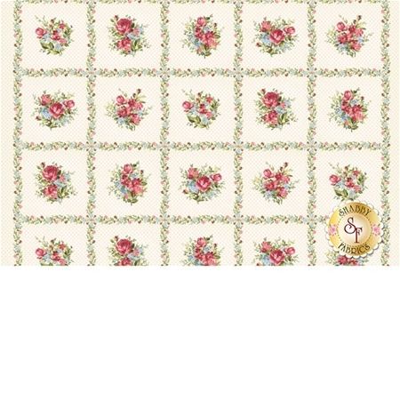 Roses On The Vine 8430-E Panel by Marti Michell for Maywood Studio Fabrics