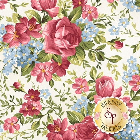 Roses On The Vine 8432-E by Marti Michell for Maywood Studio Fabrics