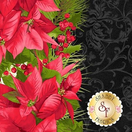 Poinsettia & Pine 9121-J by Maywood Studio Fabrics