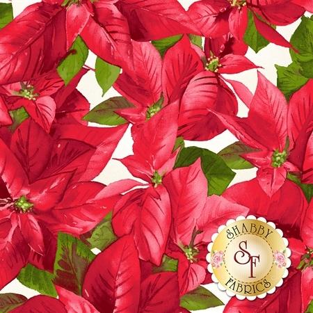 Poinsettia & Pine 9122-E by Maywood Studio Fabrics