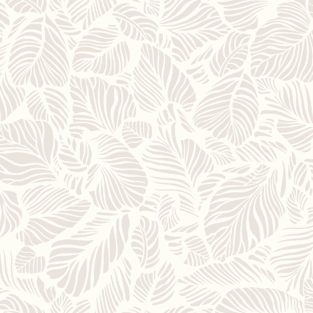 Pearlescent leaves on a soft white background | Shabby Fabrics