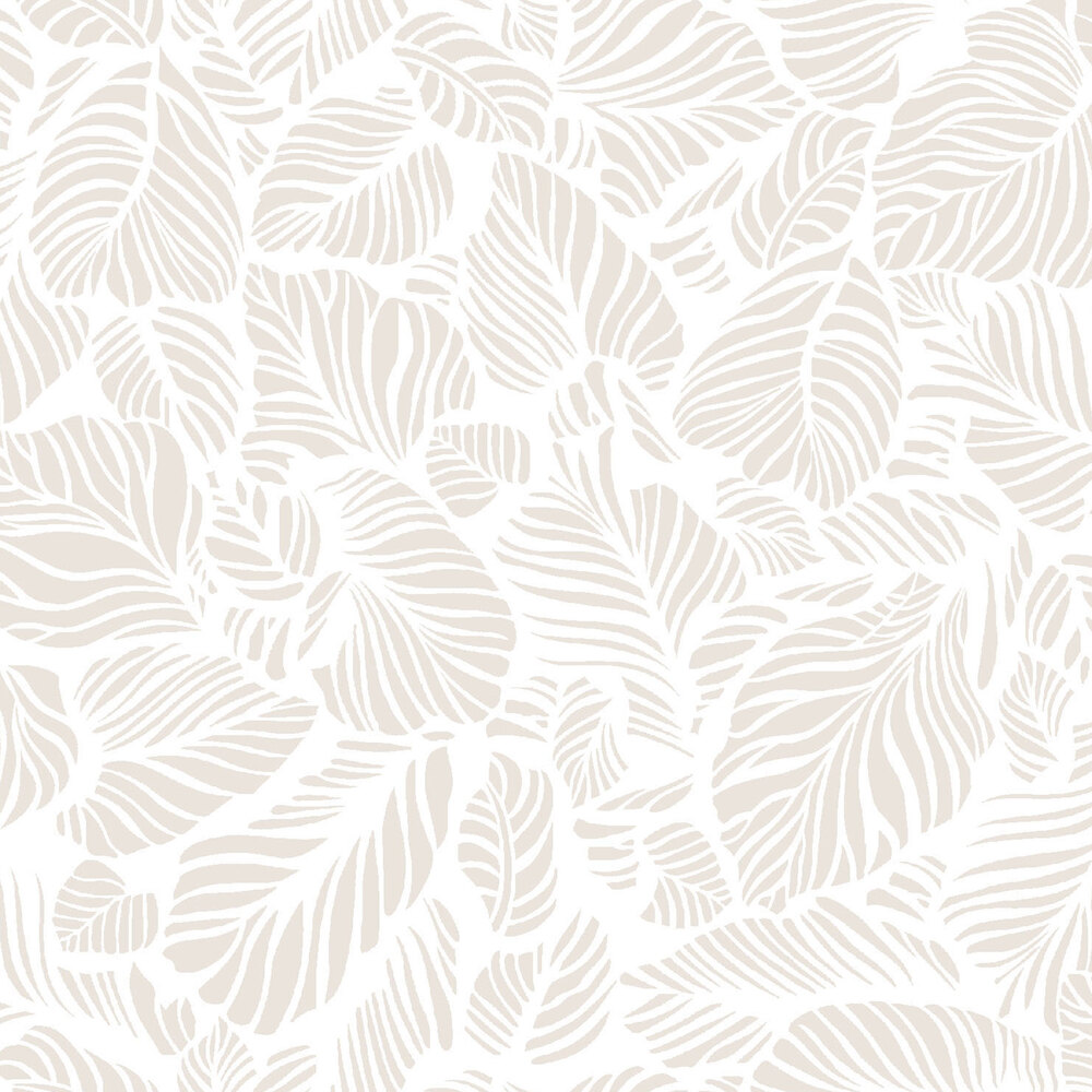Pearlescent leaves on a white background | Shabby Fabrics
