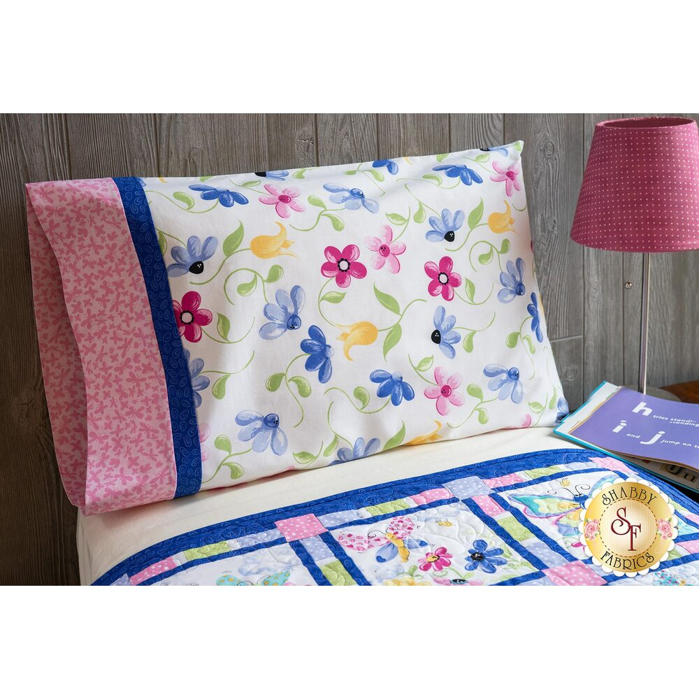 The adorable Flutter The Butterfly Magic Pillowcase - Standard in Pink