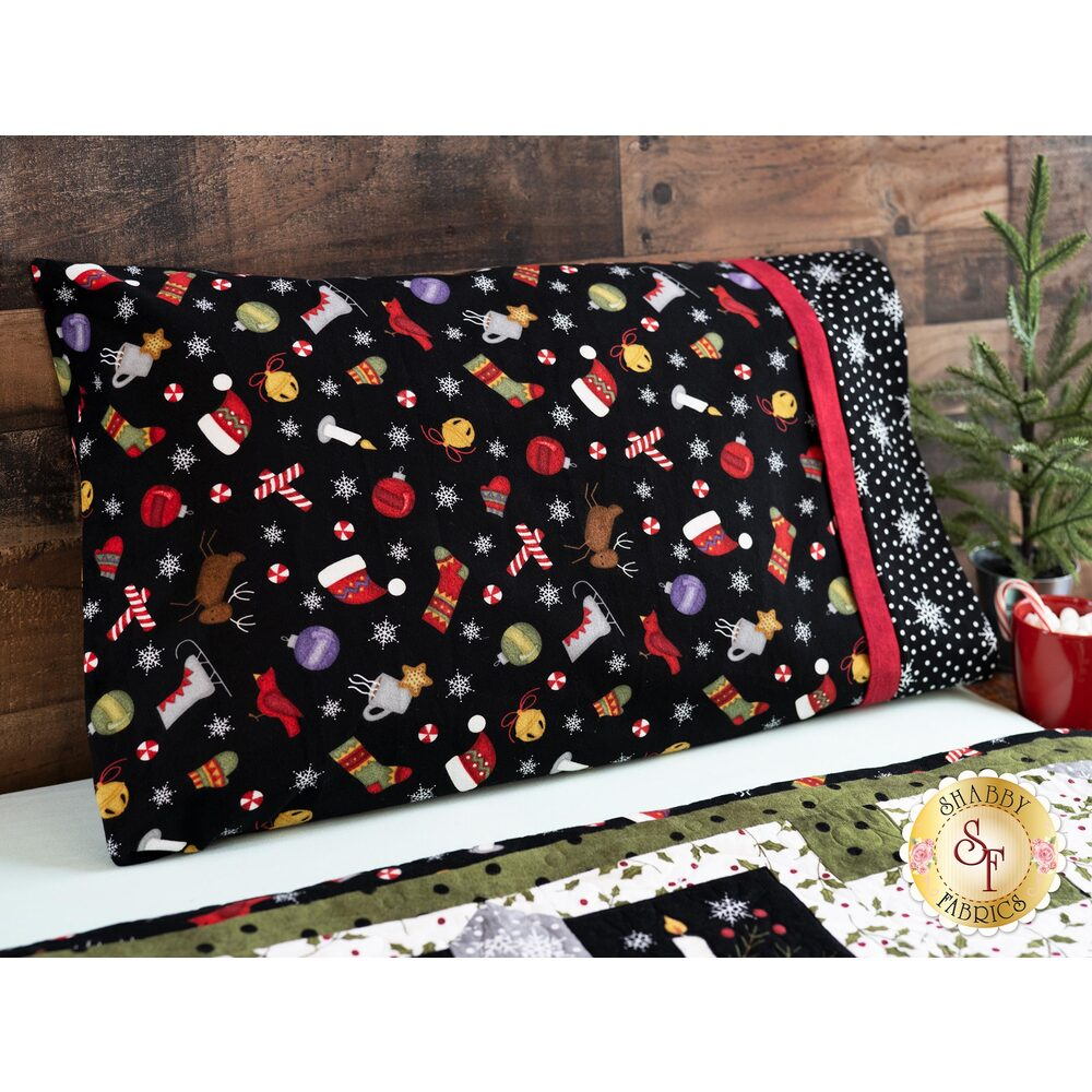 Magic Pillowcase - Most Wonderful Time Flannel - Standard Size | Shabby Fabrics