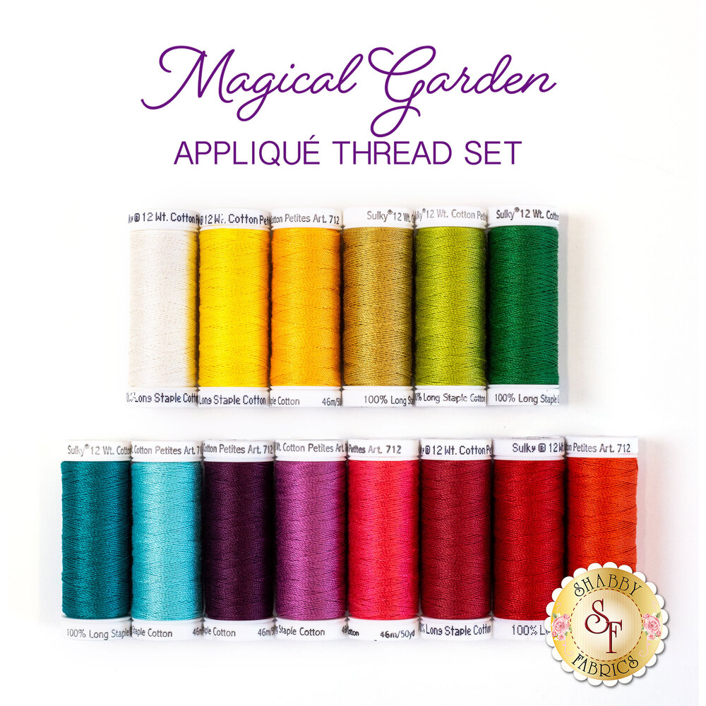 Magical Garden Table Runner - 14 pc Appliqué Thread Set