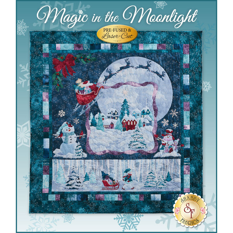 Magic in the Moonlight Quilt Kit - Pre-Fused/Laser-Cut
