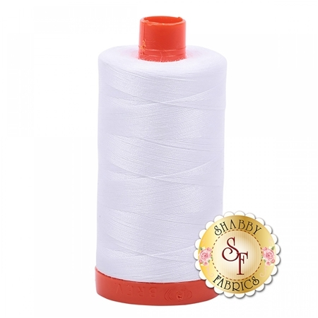 Aurifil Cotton Thread Solid White -  50wt 1422yds