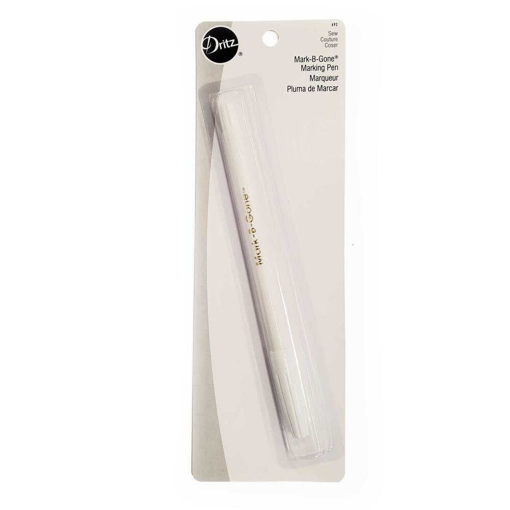A package containing a single Mark-B-Gone marking pen on a white background
