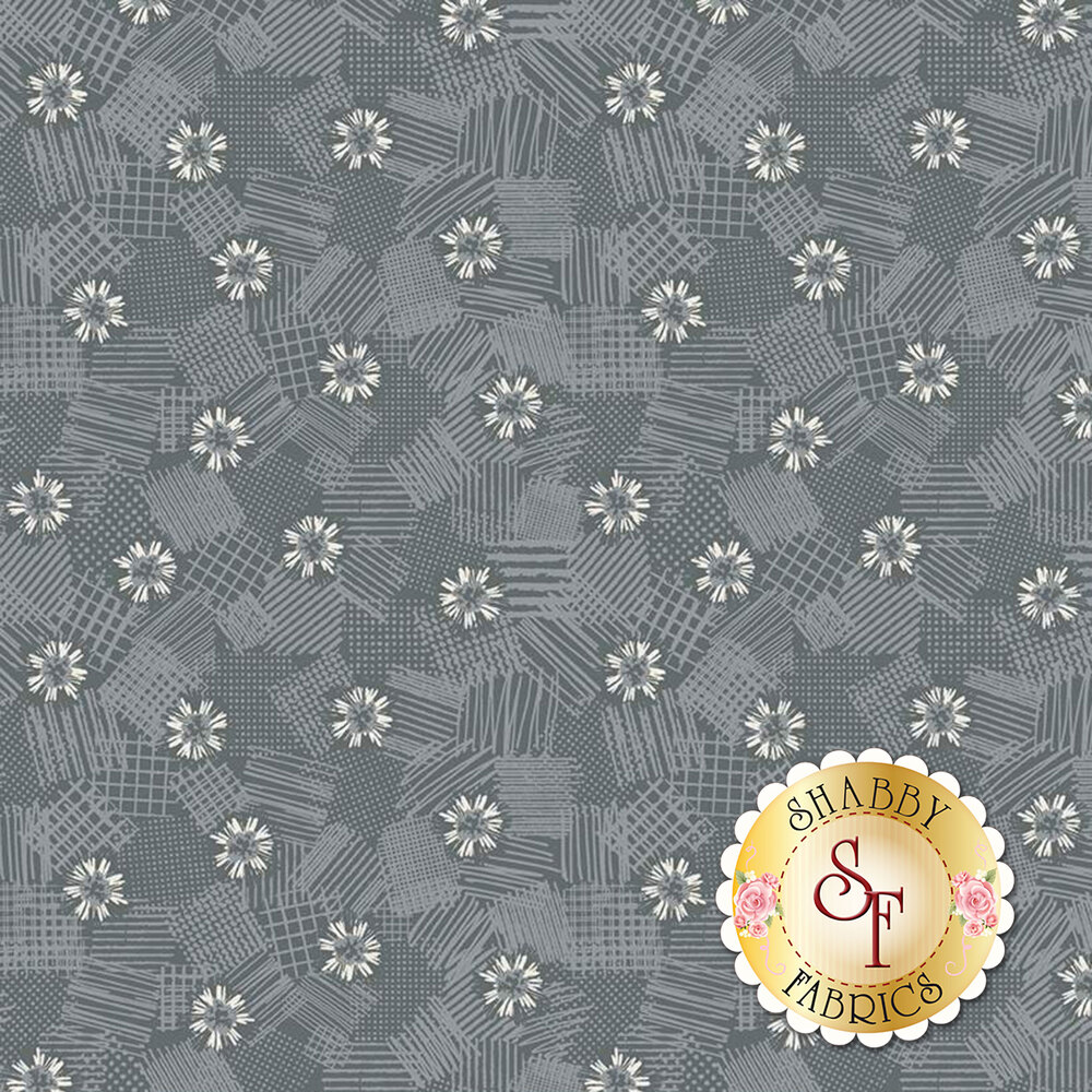 Tonal flowers on texture | Shabby Fabrics