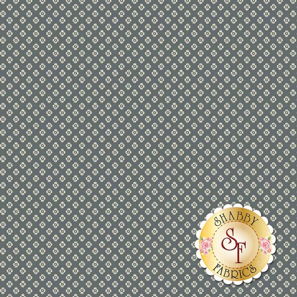 Small flowers over grey | Shabby Fabrics