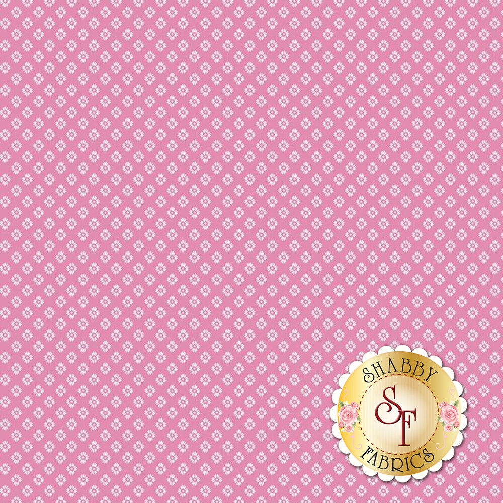 Small flowers over pink | Shabby Fabrics