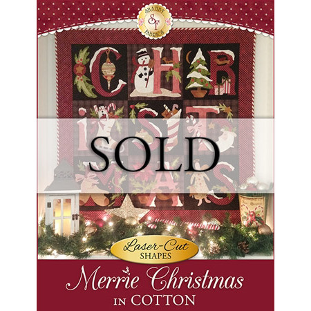 Merrie Christmas - In Cotton - SAMPLE Wall Hanging