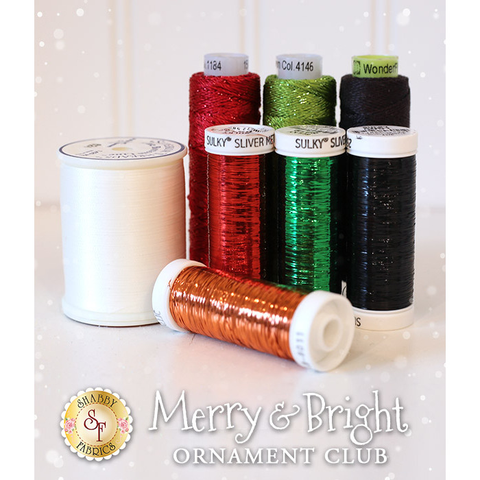 Merry & Bright Ornament Club - 8pc Thread Set