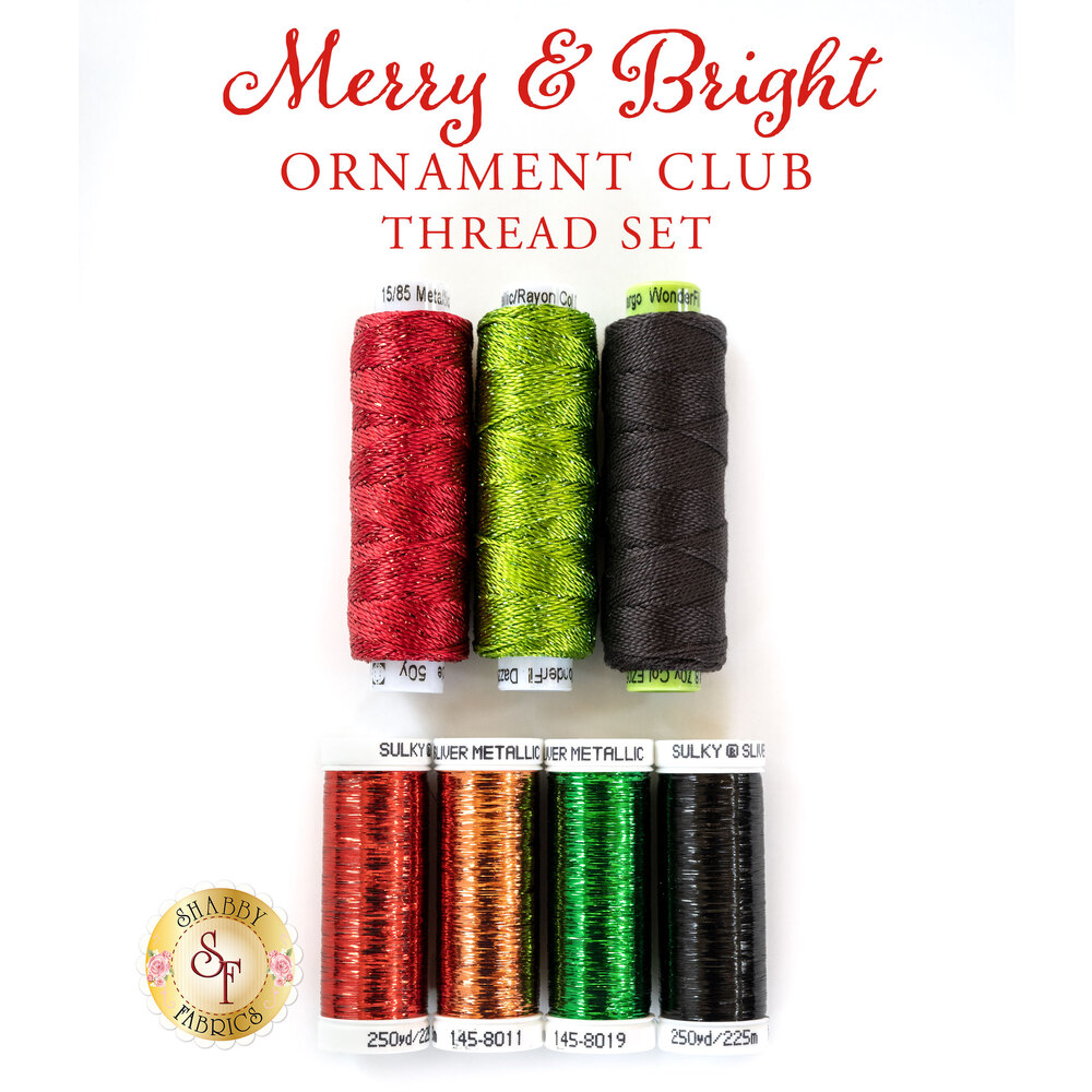 Merry & Bright Ornament Club - 7pc Thread Set