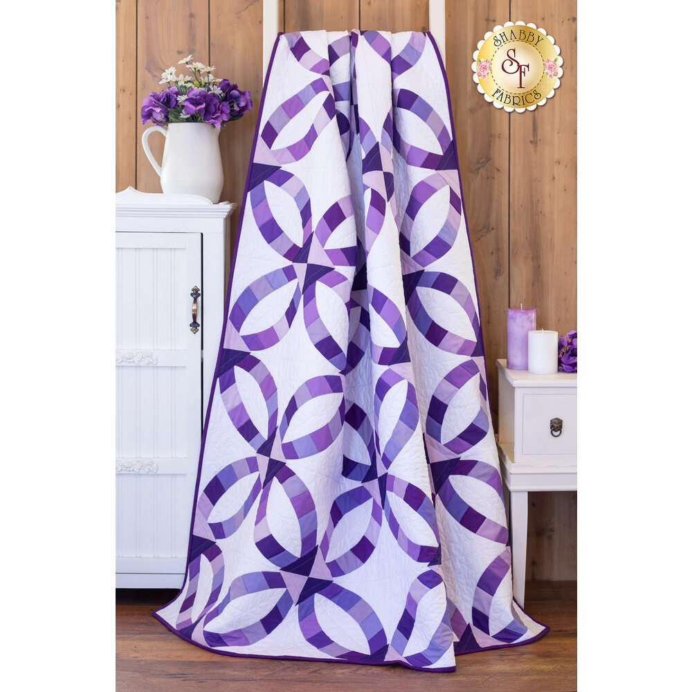 Metro Rings Quilt Kit - Purple