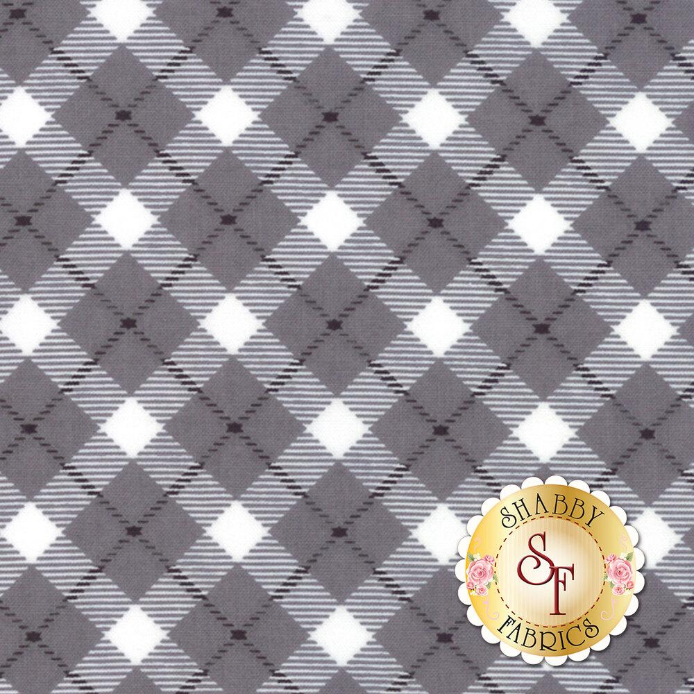 Grey and white plaid pattern   Shabby Fabrics