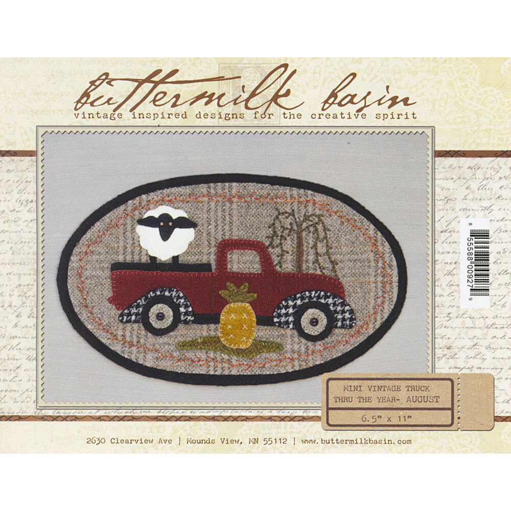 Mini Vintage Truck Thru The Year - August Pattern