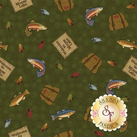 Moose Lake 5092-44 by Cheryl Haynes for Benartex Fabrics