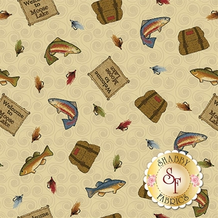 Moose Lake 5092-71 by Cheryl Haynes for Benartex Fabrics