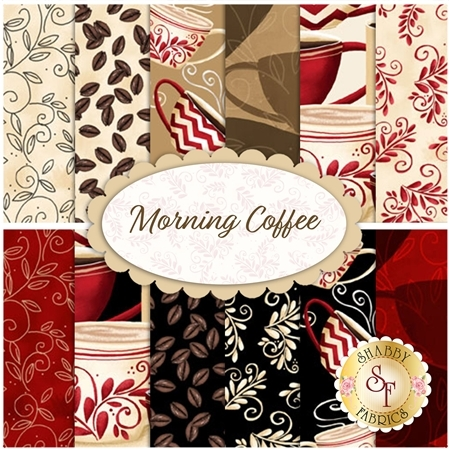 Morning Coffee  12 FQ Set by Wilmington Prints