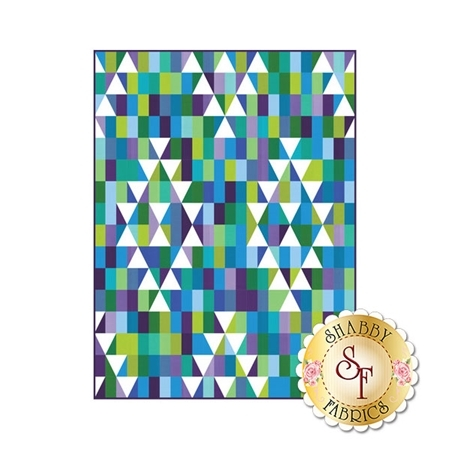 Mosaic Mountains Quilt Kit - Cool
