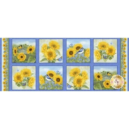 My Sunflower Garden 1377-74 Panel by Henry Glass Fabrics