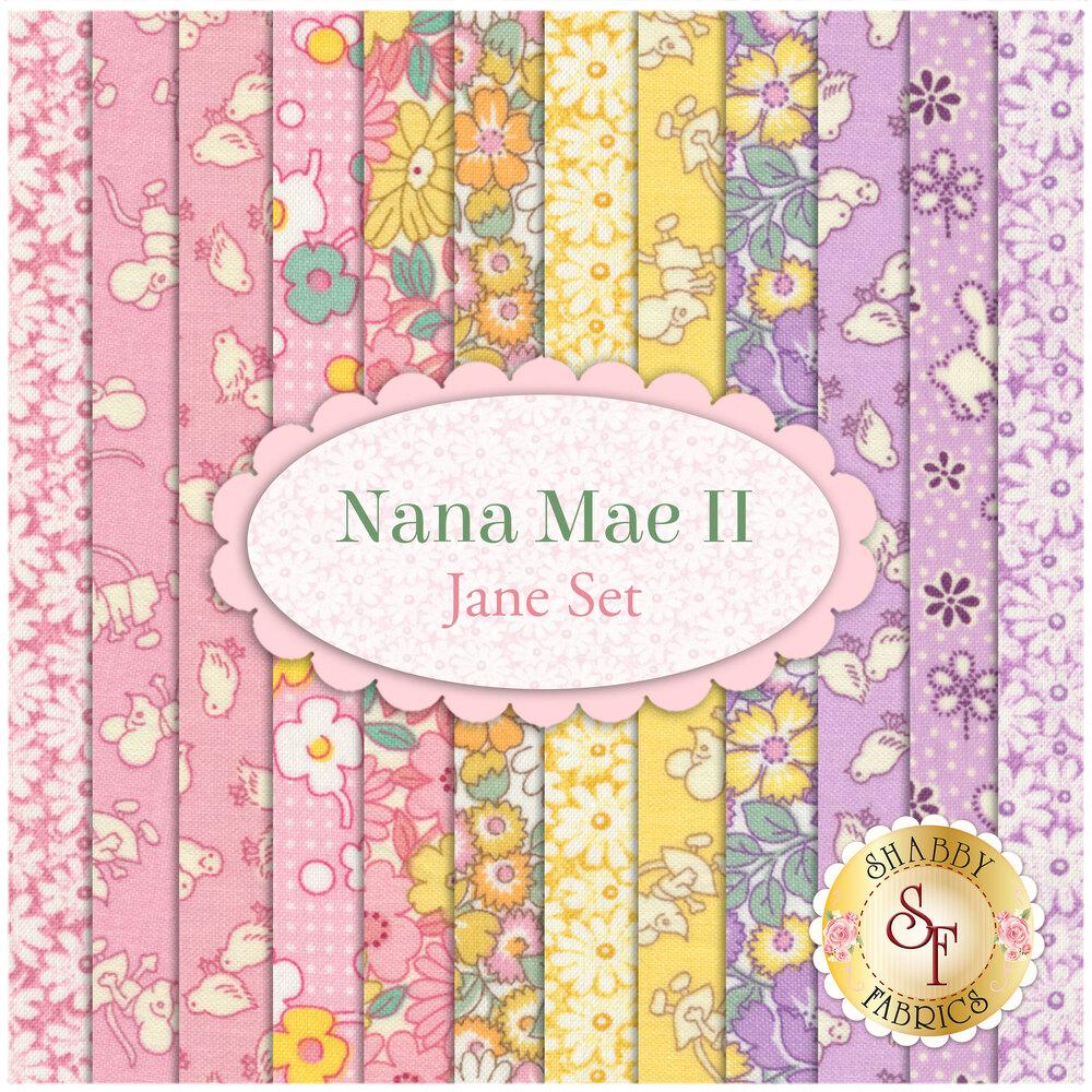 Nana Mae II  12 FQ Set - Jane Set by Henry Glass Fabrics
