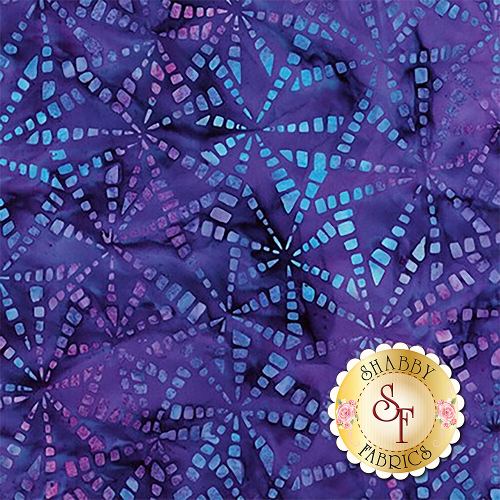 Blue and purple mottled squares on a dark purple mottled background