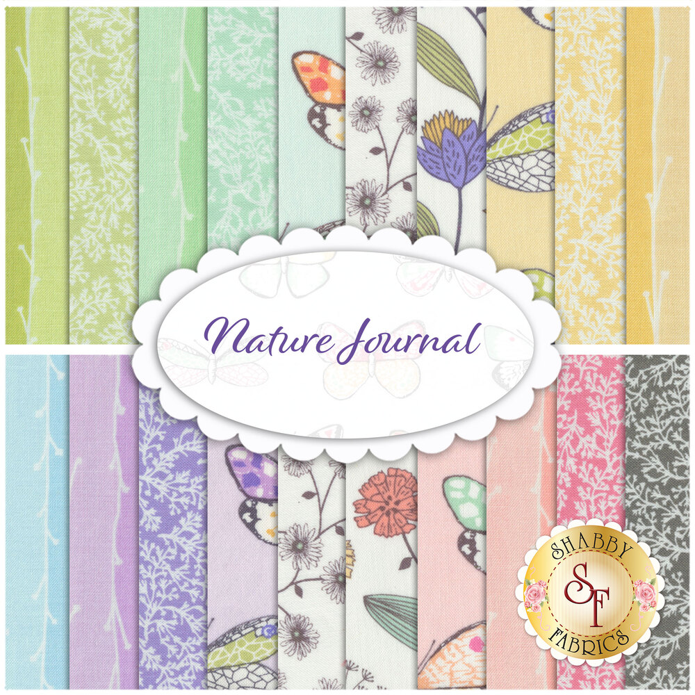 Nature Journal  20 FQ Set by Michael Miller Fabrics available at Shabby Fabrics