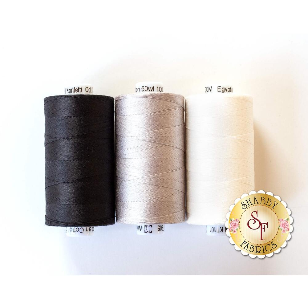 Neutral Piecing - 3pc Konfetti Thread Set